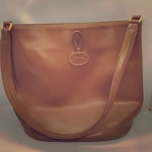 Long champ brown leather